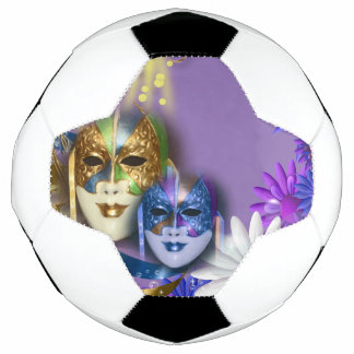 Masquerade quinceanera Venetian masks Soccer Ball