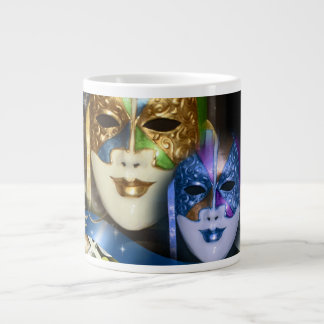 Masquerade quinceanera Venetian masks 20 Oz Large Ceramic Coffee Mug