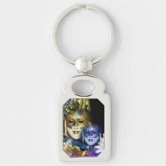Masquerade quinceanera Venetian masks square Key Chains