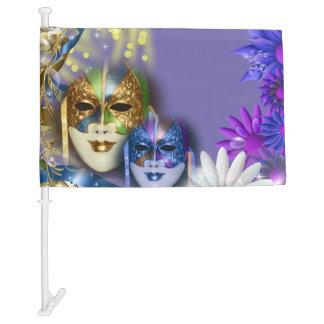 Masquerade quinceanera Venetian masks Car Flag