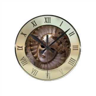 Masquerade Round Clock