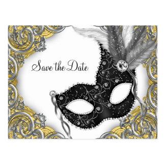 Masquerade Save The Date Postcard