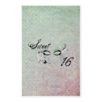 Masquerade Sweet 16 Candy Wrapper Stationery