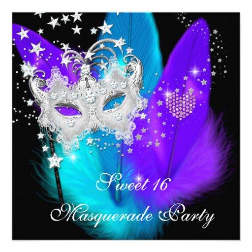 Masquerade Sweet 16 Invitations - klejonka