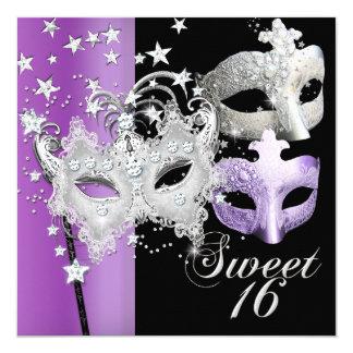 Masquerade Sweet Sixteen Sweet 16 Lilac Black Card