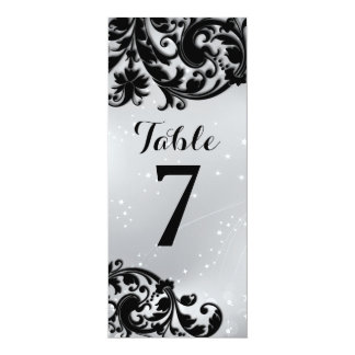 Masquerade Table Number Card