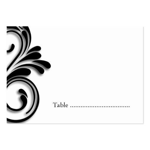 Masquerade Table Seating Cards Business Card Templates