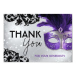 Masquerade Thank You Cards Personalized Invites