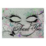 Masquerade Thank You Note Card