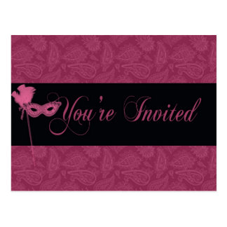 Masquerade  Theatrical Invitation Postcard