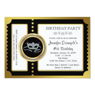 Masquerade Ticket Party Card