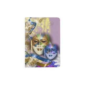 Masquerade Venetian masks Venice Passport Holder