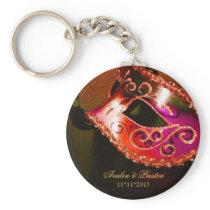 Masquerade Wedding Favor Red Keychain