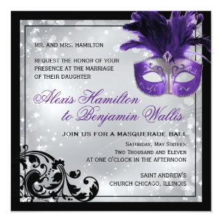 Masquerade Wedding Invitations & Announcements | Zazzle