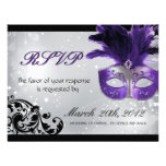 Masquerade Wedding RSVP Cards Announcement