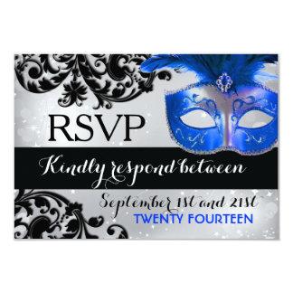 Masquerade Wedding RSVP Cards Invitations