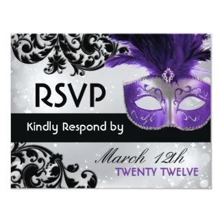 Masquerade Wedding RSVP Cards Invitation