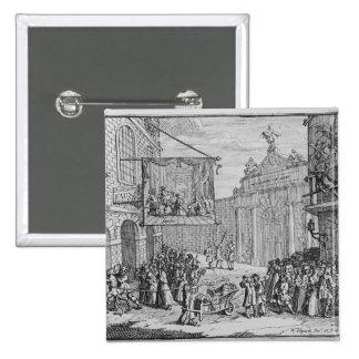 Masquerades and Operas, Burlington Gate, 1724 Pinback Button