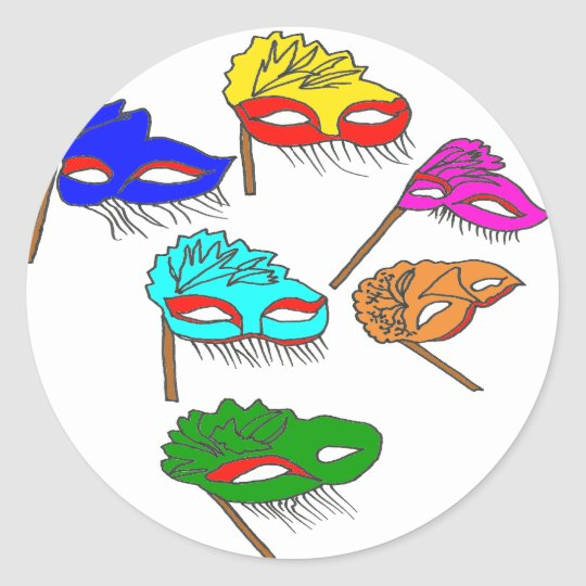 MASQUES1.png Classic Round Sticker