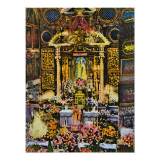 Mass at Notre Dame de Laghet, Nice, France Posters