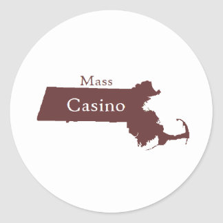 Mass Casino Store Classic Round Sticker