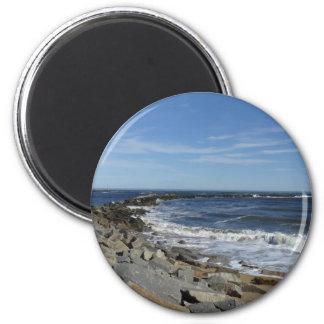 Mass Coastline 2 Inch Round Magnet