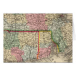 Mass, Conn, RI Map by Mitchell Greeting Card