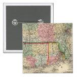 Mass, Conn, RI Map by Mitchell Pinback Buttons
