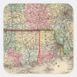 Mass, Conn, RI Map by Mitchell Square Sticker