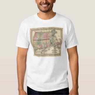 Mass, Conn, RI Map by Mitchell Tee Shirt