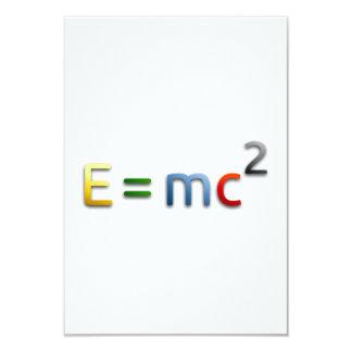 Mass-Energy Equivalence Formula Card