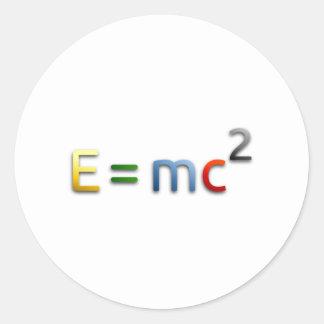 Mass-Energy Equivalence Formula Classic Round Sticker