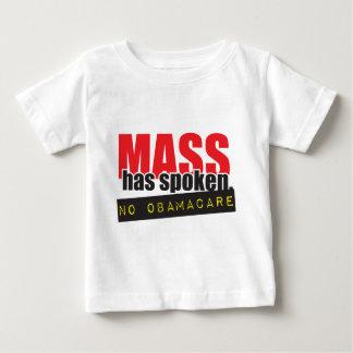 Mass Has Spoken - No ObamaCare Baby T-Shirt