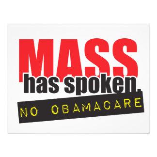 Mass Has Spoken - No ObamaCare Flyer