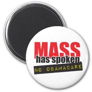 Mass Has Spoken - No ObamaCare Magnet
