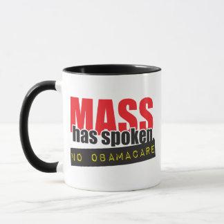 Mass Has Spoken - No ObamaCare Mug