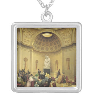 Mass in the Expiatory Chapel, 1830-48 Square Pendant Necklace