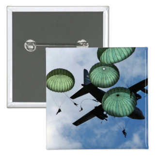 Mass Jump Mission, Parachutes, U.S. Army Pinback Button
