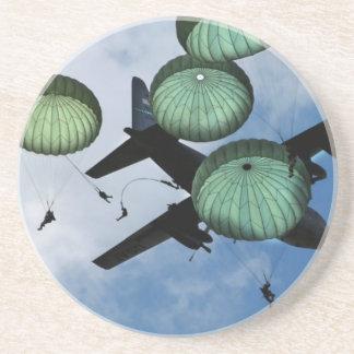 Mass Jump Mission, Parachutes, U.S. Army Sandstone Coaster