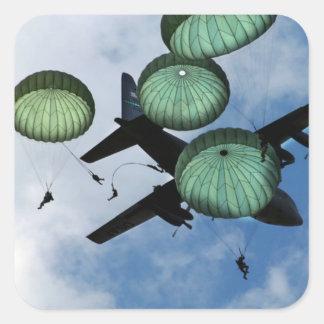 Mass Jump Mission, Parachutes, U.S. Army Stickers