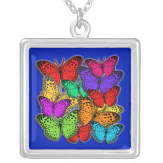 Mass of Butterflies Colorful Necklace