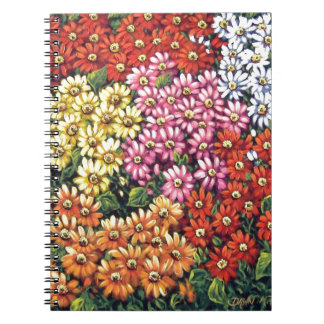 mass of color floral spiral note book