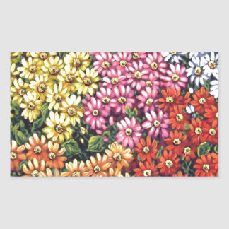 mass of color floral sticker