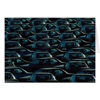 Mass of imported cars in storage depot, Toronto, O Cards