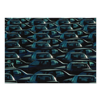 Mass of imported cars in storage depot, Toronto, O Custom Invites