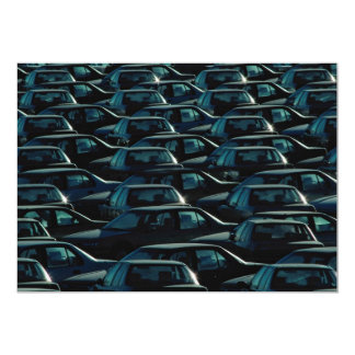 Mass of imported cars in storage depot, Toronto, O 5x7 Paper Invitation Card
