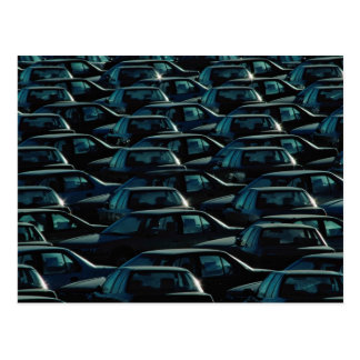 Mass of imported cars in storage depot, Toronto, O Postcard