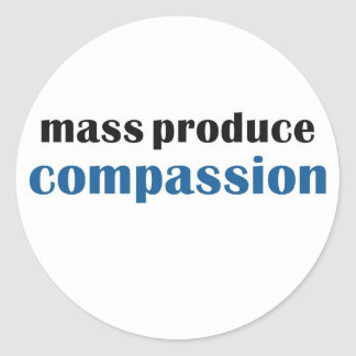 Mass Produce Compassion Classic Round Sticker