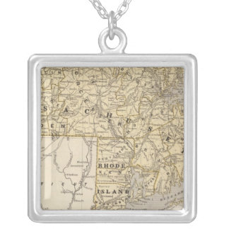 Mass, Rhode Island Square Pendant Necklace