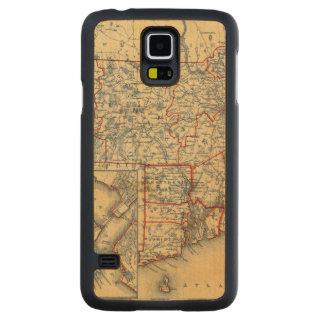 Mass, RI Carved Maple Galaxy S5 Slim Case